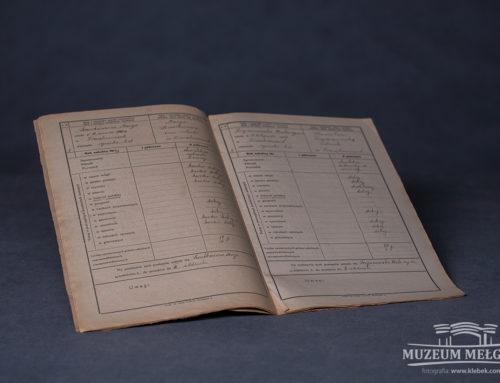 Katalog klasyfikacyjny (Dziennik szkolny) z 1916 r.